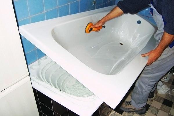 Реставрация ванны, акриловый вкладыш