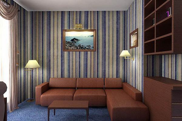 Интерьер в полоску, правила выбора, декор, советы | Цвет в интерьере - Галерея-услуг